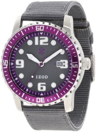 IZOD Men's IZS3/8 PURPLE Sport Quartz 3 Hand Watch