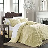 Isabella 9-piece Comforter Set, King Size, Champagne; Sheet Set, Bedskirt, Shams and Decorative Pillow Included