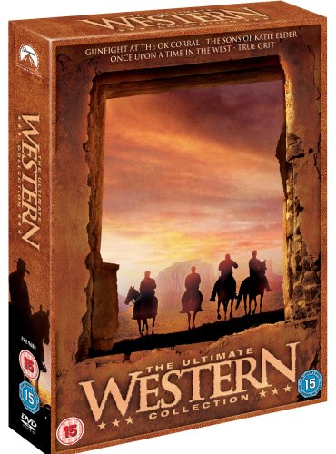 Western Collection (Gunfight at the OK Corral, Once Upon A Time in the West, True Grit, The Sons of Katie Elder) [DVD]