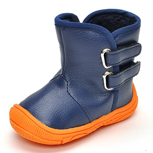 Toddler Boys' Rubber Sole Winter Snow Boots Navy US 5
