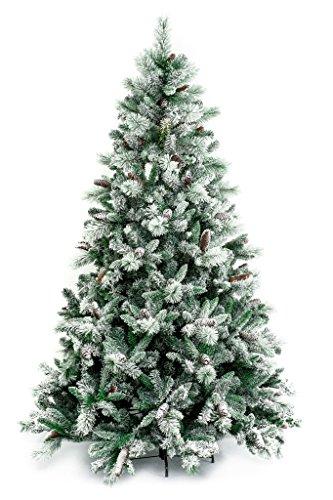 Xone snowbird albero di natale finto con effetto neve da for Alberi natale artificiali