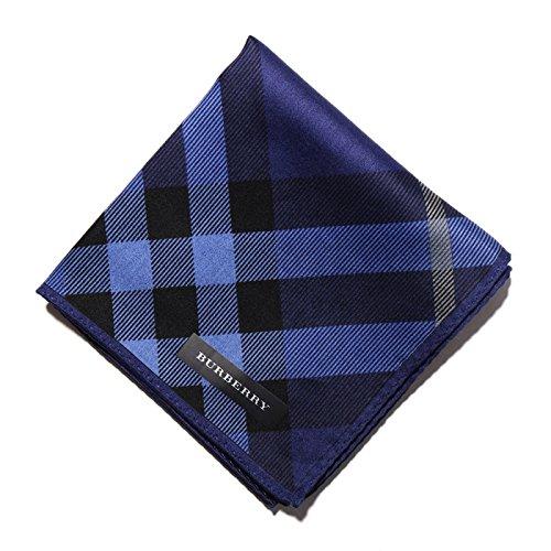 バーバリー BURBERRY ハンカチギフト クリスマスプレゼント 薄手 メンズ チェック ブルー 33945