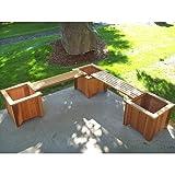 #11 Three Cedar Planters/Two Bench Set