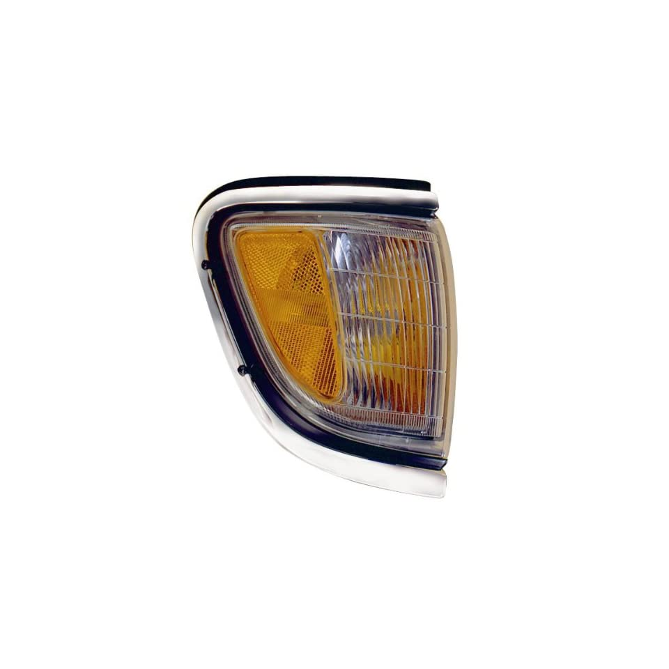 1995 1996 1997 Toyota Tacoma Pickup Truck (4WD 4 Wheel Drive) Corner Park Light Turn Signal Marker Lamp with Chrome Trim Right Passenger Side (95 96 97)