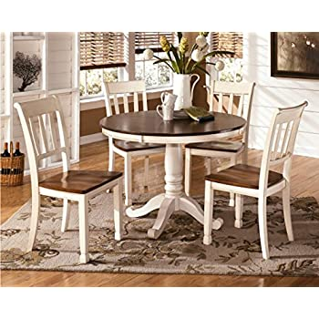 Ashley Furniture Signature Design - Whitesburg Dining Room Side Chair Set - Vintage Casual - Set of 2 - Two Tone