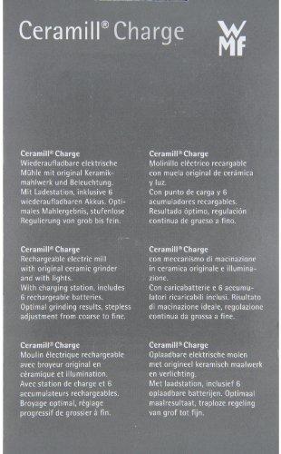WMF 0667401040 Ceramill Charge - wiederaufladbare elektrische Mühle