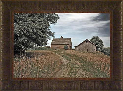 Back Forty Back Road By Todd Thunstedt 17.5X23.5 Farm All Farming John Deere Ih Farmall Allis Ford Combine Pig Sheep Lamb Holstein Dairy Hereford Beef Angus New Verse Framed Art Print Wall Décor Picture