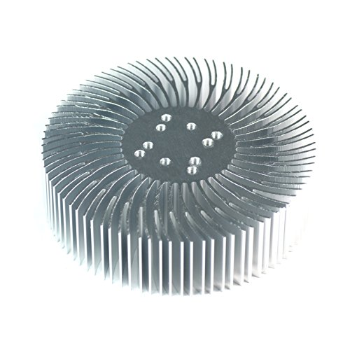 3.5X1Inch Round Spiral Aluminum Alloy Heat Sink For 1W-10W Led Silver White