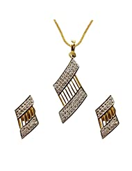 Sheetal Jewellery Silver & Golden Brass & Alloy Pendant Set For Women - B00TIGZOTO