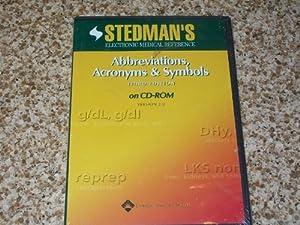 Stedman's Abbreviations, Acronyms & Symbols,  on -ROM: Version 2.0  by Stedman's