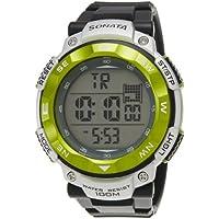 Sonata Ocean Series II Digital Grey Dial Men's Watch - NF77011PP01J