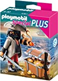 Toy - PLAYMOBIL 4767 - Finsterer Pirat mit Schatztruhe