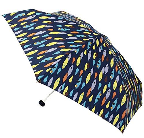 【晴雨兼用】 折りたたみ傘 コンパクトジッパーケース付 メリ ミニ (tiny) 50cm ブルー 309-125