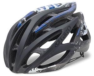 Giro Atmos Cycling Helmet (Matte Black/BlueMcHesher, Small)