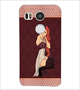 PrintDhaba Bold Girl D-1335 Back Case Cover for LG NEXUS 5X (Multi-Coloured)