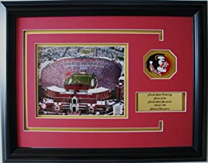 NCAA Florida State Seminoles Bobby Bowden Field Framed Landscape Photo with Team... by CGI Sports Memories