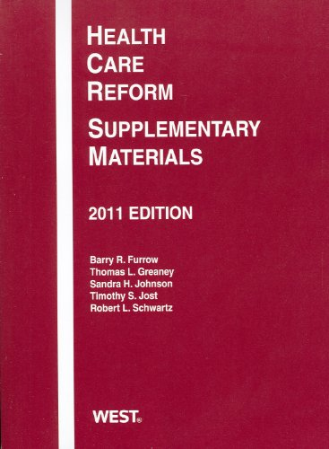 Health Care Reform: Supplementary Materials, 2011 PDF