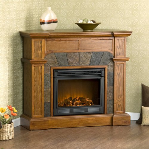 Cartwright Mission Convertible Slate Electric Fireplace