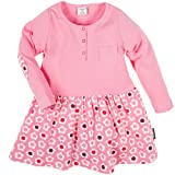 POLARN O. PYRET DROPPED WAIST HENLEY DRESS (2-6 YRS) - 4-6 years/Macaron
