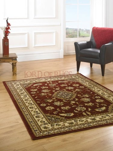 Very Large Quality Traditional Red Rug in 240 x 330 cm (8' x 11') Carpet