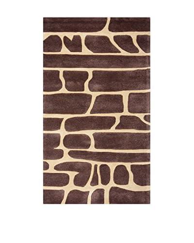 Tapis a Porter Alfombra Vision Bricks Marrón 90 x 160 cm