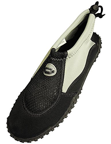 The Wave - Mens Aqua Shoe, Grey, Black 37130-7D(M)US