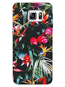Dark Shade Of Floral - Bold Floral - Hard Back Case Cover for Samsung S6 Edge Plus - Superior Matte Finish - HD Printed Cases and Covers