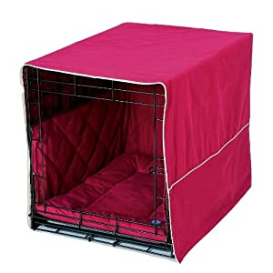Pet Dreams Classic Cratewear Set, Burgundy, Fits 24-Inch Crates, 3-Piece