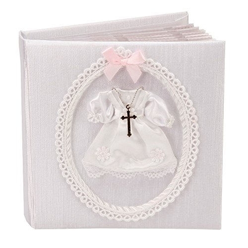 Miniature Pink Bow And Metal Cross Christening Photo Album By Haysom Interiors - 1