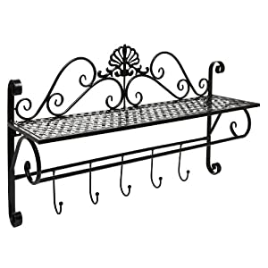 Beautiful Black Metal Decorative Wall Mounted