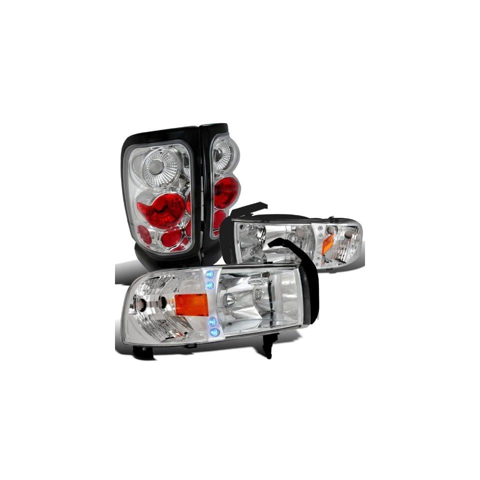 Dodge Ram 1500/2500/3500 Clear Led Drl Head Lights, Chrome Altezza Tail Lamps Automotive