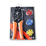 IWISS IWS-30J Ratcheting Wire Terminal Crimper with FREE Terminals Crimping Tool Kit AWG 10-22