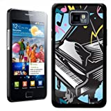 Fancy A Snuggle Awesome Rocking Black Grand Piano Playing Music Design Hard Case Clip On Back Cover for Samsung Galaxy S2 i9100