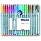Staedtler Triplus Fineliner Pens, 20 Color Pack (334SB20)