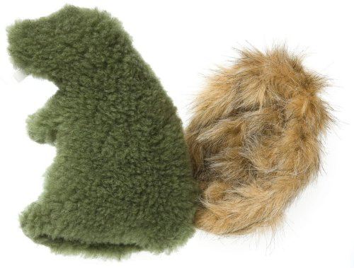 West Paw Design Dam Beaver Squeak Toy for Dog, Pea Pod