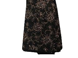 Inhika Women's Kurti Fabric (Inhika_511_Black Gold)