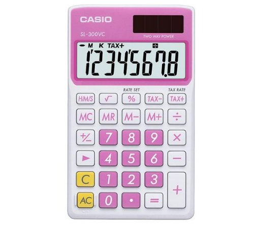COMPUTING, Peripherals, SL-300VC Pocket Calculator - pink (Calculators)