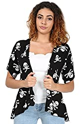 Oops Outlet Womens Ladies Button Short Turn Up Sleeve Open Front Waterfall Boyfriend Coat Jacket Cardigan Top Plus Size UK 8-22 from BE JEALOUS