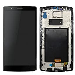 LCD Display Touch Screen Digitizer + frame For LG G4 H810 H811 H815 VS986 LS991 F500L (Black w/ Frame)