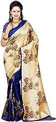 WXW Fashion Women's Silk Saree with Blouse Piece (WXWAZYC30_Blue)