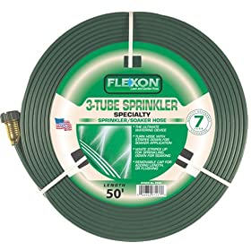 Flexon 50-Foot Three Tube Sprinkler Hose FS50