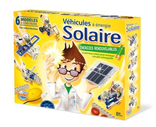 Buki Sciences 7340 Véhicules à energie solaire - Juego para construir vehículos alimentados con energía solar (6 vehículos a construir, funciona con pilas)