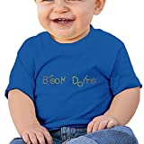 Bro-Custom Break Dance Word Mark Kid's Custom T Shirt RoyalBlue Size 12 Months