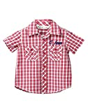 Beebay Infant-boy 100% Cotton Red Check Shirt (C4915116420323_Red Check_0-3 Months)