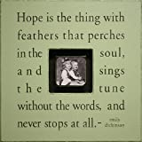 Sugarboo Designs Photobox Frame, Hope is the Thing, Key Lime