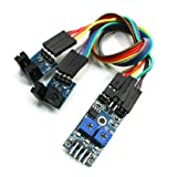 Speed Detector 4 Pins 2 Channel Velocity Measurement Sensor Module