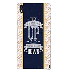 PrintDhaba Quote D-4821 Back Case Cover for HUAWEI ASCEND P6 (Multi-Coloured)