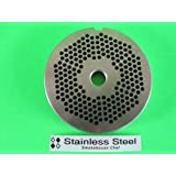 """#22 x 1/8"""" STAINLESS STEEL Meat Grinder plate disc for Hobart LEM Cabelas Universal MTN & others"""