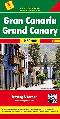 Gran Canarias, mapa de carreteras. Escala 1:50.000. Freytag & Berndt. (Auto karte)