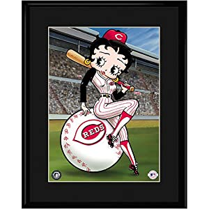 Cincinnati Reds MLB Betty On Deck Collectible by Toon Art